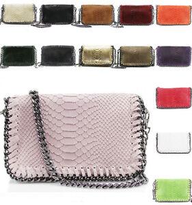 5e00031e880fa LeahWard Women s Real Soft Genuine Italy Leather Shoulder Bags Chain ...