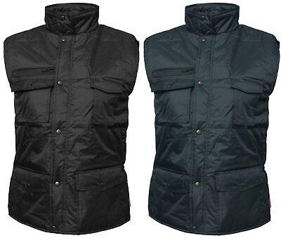Mens Green Bodywarmer Workguard Padded Gilet Body Warmer Multi Pocket