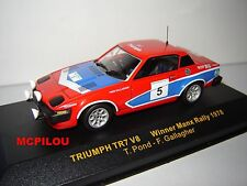 IXO RAC057 TRIUMPH TR7 V8 N°5 WINNER MANX RALLY 1978 au 1/43°