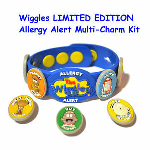 Image Is Loading Wiggles Allermates Allergy Multi Charm Health Alert Wristband