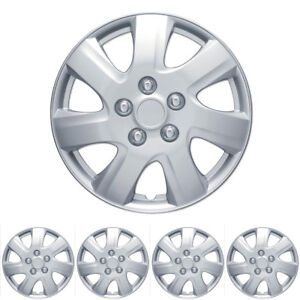 4-PC-Set-16-034-Silver-Hubcaps-Wheel-Cover-OEM-Replacement-Wheel-Skin-Cover