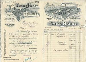 NIORT-FACTURE-DE-1924-EMILE-MAROT-MACHINES-AGRICOLES-TRIEURS-DE-GRAINS