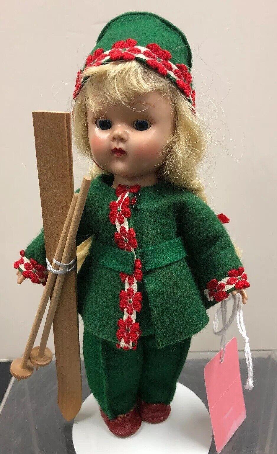 "7"" Vintage Vogue Ginny Doll Straight Leg Walker 1953 Ski  49 Getabouts  ac"