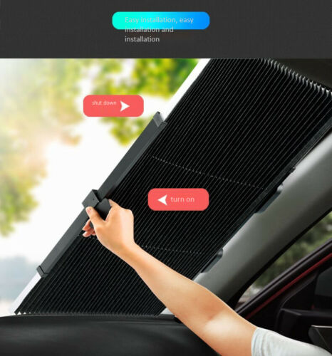 New Car Retractable Curtain UV Protection Front Windshield Sun Visor Accessories