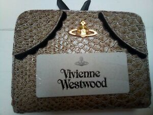 VINTAGE-VIVIENNE-WESTWOOD-LONDON-SNAKE-PRINT-GENUINE-LEATHER-ORB-CLUTCH-PURSE