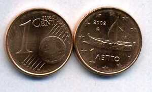 GRECE    1 cent  2002  SPL  neuve  ( sortie du rouleau )   ( bis )