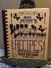 Miss Judy's Wild Western Recipes Cookbook From Mayan Dude Ranch Bandera Texas