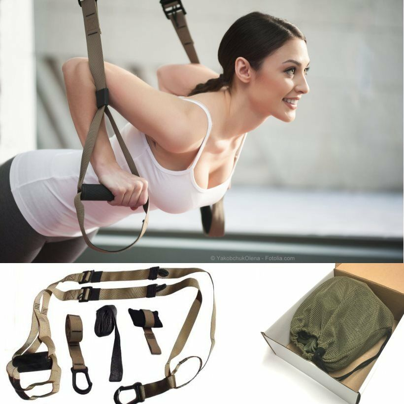 Professional Suspension Trainer Set (Top-Qualität, Gummigriffe) SlingTraining