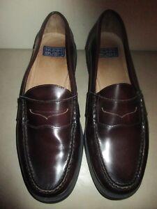 0ec3f638e09 Men s NUNN BUSH Burgundy Leather Penny Loafer Dress Shoes Size 11 1 ...