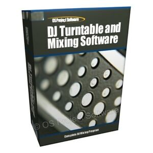 DJ-Turntables-MP3-Mixing-Mixer-Player-Decks-Software-CD