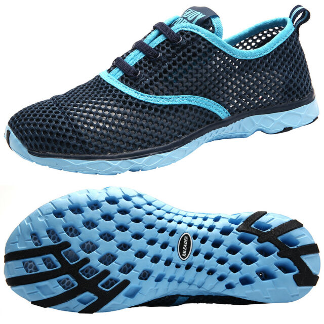 47d7aea53ee5 ALEADER Women s Slip On Mesh Quick Dry Water Shoes Summer Casual Sport  Trainers