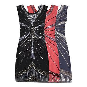 Annees-1920-Vintage-Clapet-Downton-Gatsby-Charleston-Embelli-Sequin-Robe-Nouveau-8-24