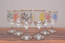 Stunning mid century Atomic design hand blown sherry glasses Mint Condition