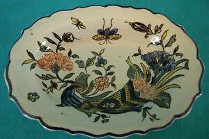 Pequeño Plato de Cerámica Ornamentación Antiguo Rouen Ref 302761642457