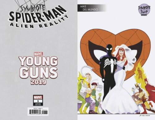 Symbiote Spider-Man Alien Reality #1 Swap Young Guns Variant 2020 NM