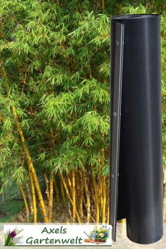 4 x Wurzelsperre 3m Verschlußleiste Rhizomsperre Bambussperre Bambus Sperre HDPE