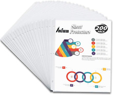 Infun Sheet Protectors 85 X 11 200 Clear Plastic Page Protectors Sleeves