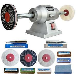 6-034-Bench-Grinder-150W-Bench-Polisher-With-4-034-Metal-Polishing-Kit-Machine