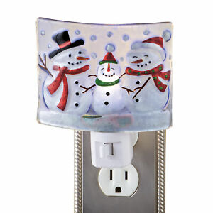 Snowman Family Frosted Glass Night Light Ebay