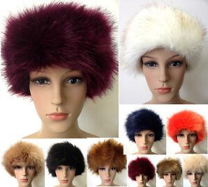 eed5561db9e New Women Russian Thick Fluffy Fox FAUX Fur Headband Hat Winter Ear ...