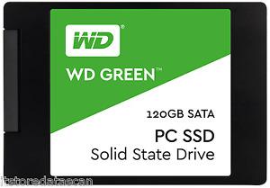 "WD 120GB Green SATA III 2.5"" Internal SSD    WDS120G1G0A with 3 Years Warranty G"