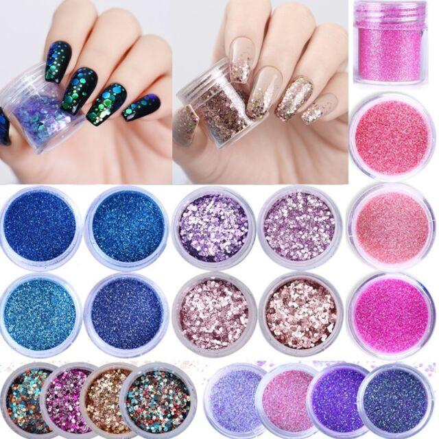 10ml Nail Art Glitter Powder Dust Nails Sequins Flakes  Decoration DIY