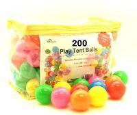 200 Pit Balls Plastic Ball For Ball Tent Pit Bpa Free Crush Proof + Storage Bag