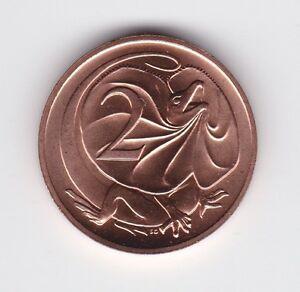 1990-Australia-2-Two-Cent-UNC-Uncirculated-Coin-ex-UNC-Set