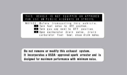 HONDA Z50  WARNING DECAL SET KO  REPRO Z50A K0