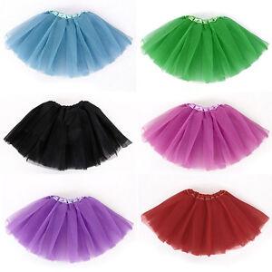 Kider-Ballett-Kleid-Dancerock-Tutu-Kleidung-Kostuem-10-Farben-Infant-Baby