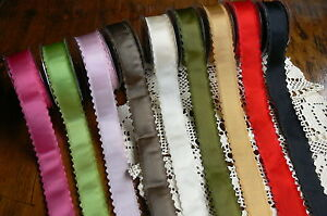 Satin-Scalloped-Picot-Edge-Ribbon-9-colours-40mmWide-3-metre-other-lengths-LR7