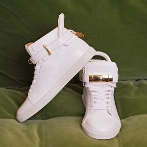 buscemi mens white and gold locket