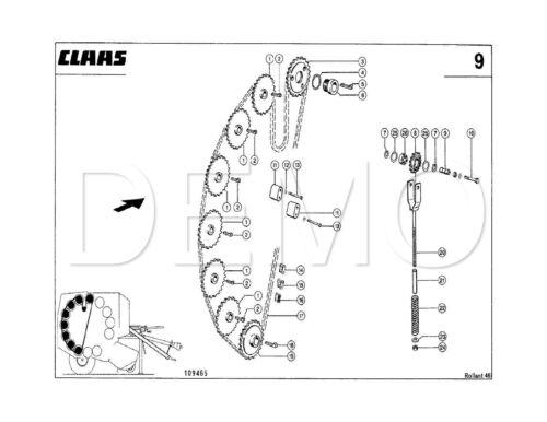 PDF CATALOGO manuale originale Claas Rollant 46 catalogo parti di ricambio