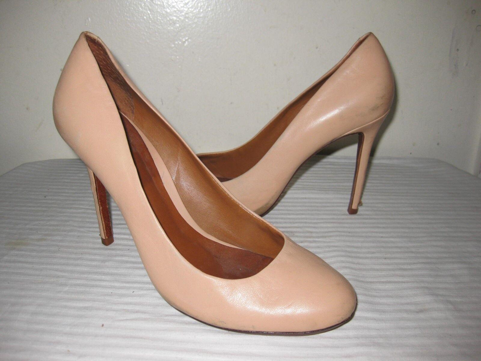 Schutz  Leather Nude Pumps shoes Women's Size 40   9.B