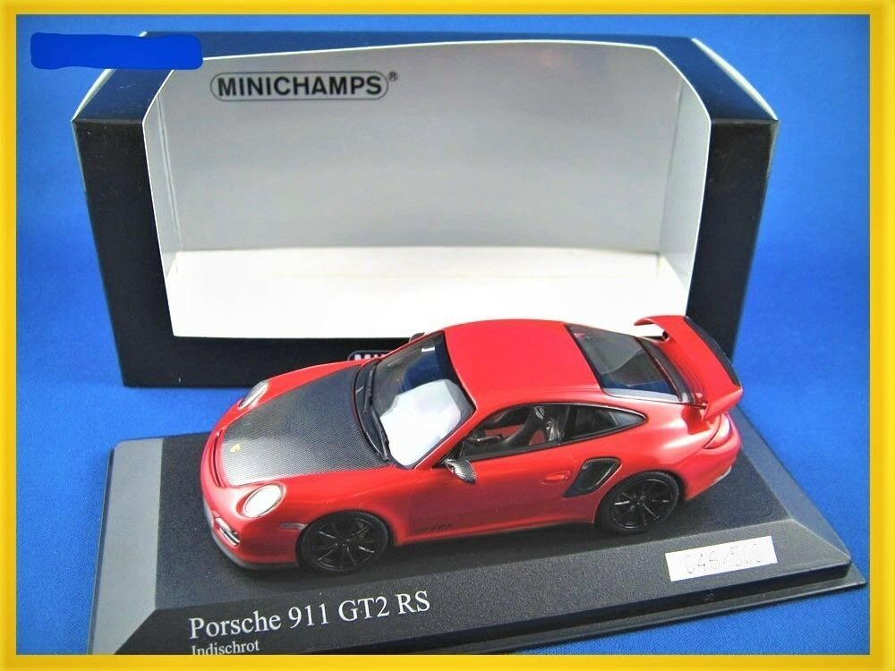 Porsche 911 (997 11) GT2 RS 2010 in Red - 1 43 scale Minichamps
