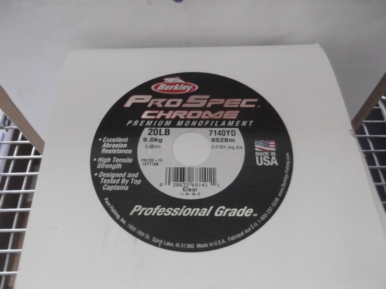 BERKLEY PRO SPEC ProSpec CHROME Mono Line PSC320-15 20lb Clear 7140yd 25  New