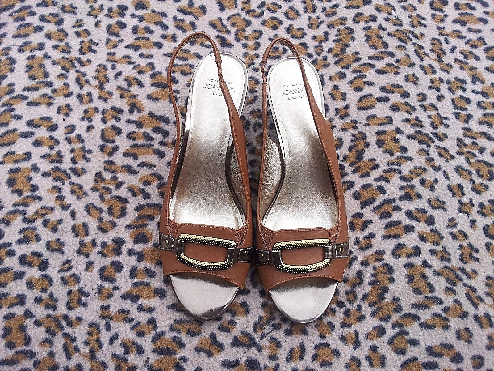 Joan and David braun leather wedge heeled schuhe schuhe schuhe UK Größe 6 EU 39 51d770