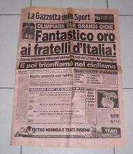 La Gazzetta dello sport OLIMPIADI LOS ANGELES 1984 Oro ABBAGNALE 6 agosto