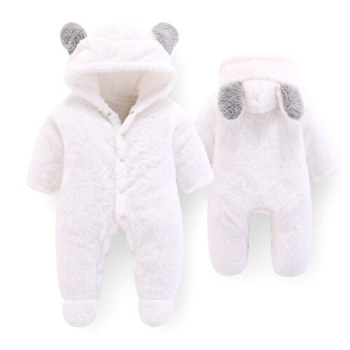 Newborn Baby Clothes kids Hooded Winter Warm Jumpsuit Thick Overalls Bodysuit