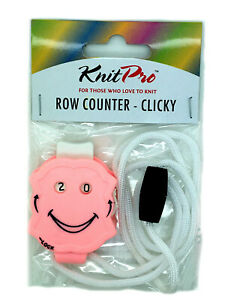 Row Counter by KnitPro Clicky - Pink 10862