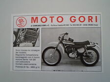 advertising Pubblicità 1974 MOTO GORI 125 GS REGOLARITA'
