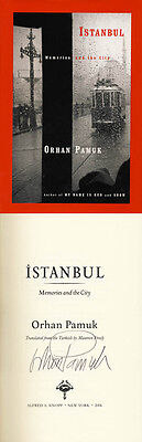 Orhan Pamuk SIGNED AUTOGRAPHED Istanbul HC 1st Ed/1st Print Snow My Name is Red