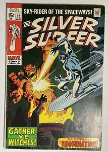SILVER SURFER # 12 MARVEL Comics 1969 Vintage Old Comic Book