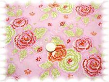 Hanni Popeline Baumwolle Blumen hellrosa 50 cm Webware Stenzo Blumenstoff nähen