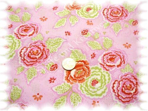 Hanni popelín algodón flores rosa claro 50 cm fuera tejido plano stenzo tela flores coser