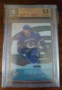 2011-12-UD-UPPER-DECK-CODY-HODGSON-ICE-PREMIERES-ROOKIE-RC-99-BGS-9-5-GEM-MINT