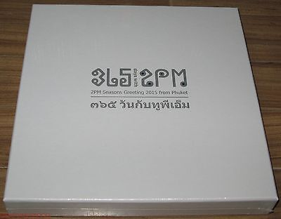 2 PM 365 Days With 2PM SEASONS GREETING 2015 From Phuket CALENDAR + DIARY + DVD