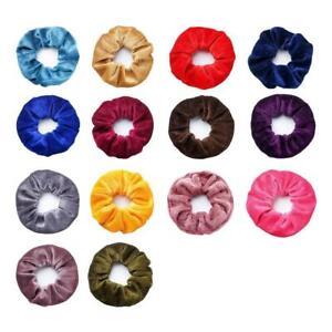 Women-Velvet-Scrunchies-Ponytail-Holder-Hair-Accessories-Elastic-Hair-Lot-F6O9