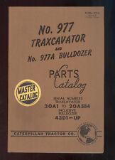 1956 CATERPILLAR 977 TRAXCAVATOR & 977A BULLDOZER PARTS MANUAL / 20A1 to 20A584