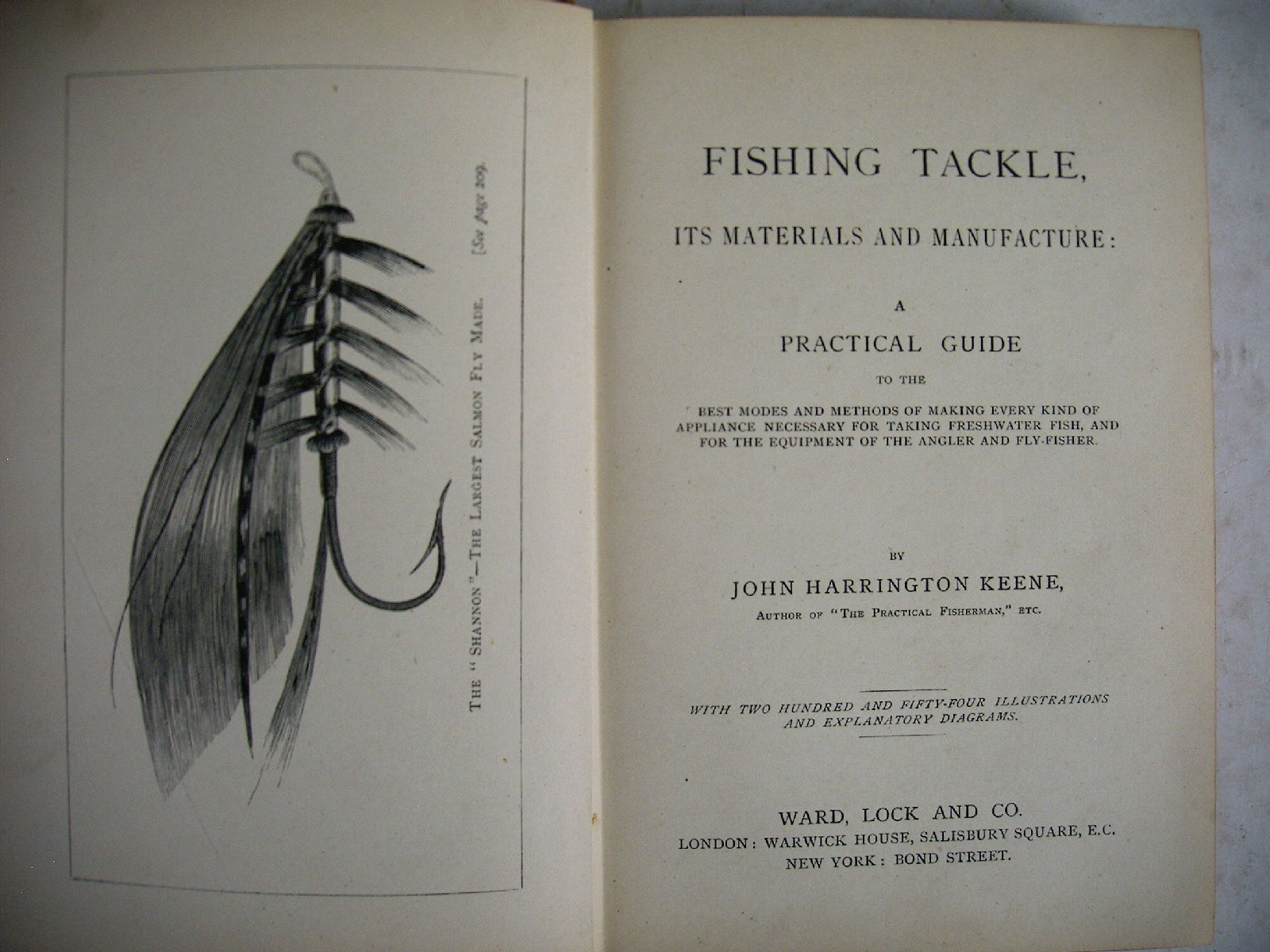 PECHE A LA MOUCHE LANCER poisson FISHING TACKLE J.H. Keene 1886